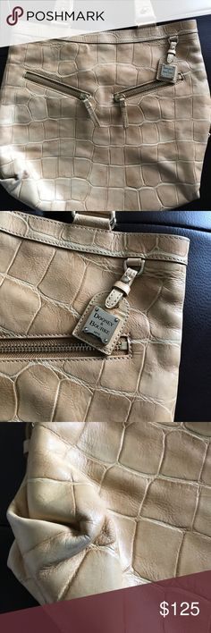 Dooney and Bourke Croc Leather Bag Croc leather! Big! Very classy! Caramel color!! Dooney & Bourke Bags Totes