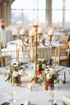 Brass candelabras available to rent for $30 each