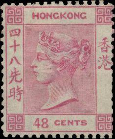 Hong Kong 1862 & 1865. Queen Victoria. 48 Cents