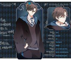 Mystic Messenger x Harry Potter crossover - Jumin Jumin Han Mystic Messenger, Mystic Messenger Characters, Ravenclaw, Jumin X Mc, Fangirl, All Meme, Hogwarts Mystery, Anime Profile, Romance