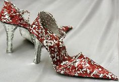 Shoes made from aluminum cans