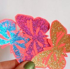 Handcrafted bright and sparkly Butterfly Embellishments by Wcards