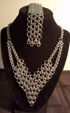 Check out this item in my Etsy shop https://www.etsy.com/listing/540754729/chainmaille-stainless-steel-necklace-and