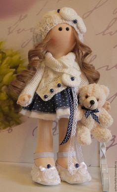 Коллекционные куклы ручной работы. Заказать Текстильная кукла Малена. Юлия Соколова. Ярмарка Мастеров. Кукла текстильная, кукольные волосы