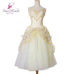 8fa5ea4a8b1 Top quality adult girls professional gold ballet dance tutu long romantic  tutu dress for dancing ballerina