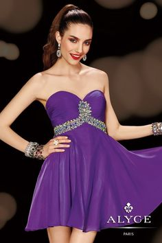 Sweet 16 Dress Style #3608 perfect as your homecoming dress, purple dress or short dress. Available in other colors.