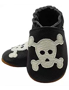 Baby Skull Soft Sole Leather Infant and Toddler Shoes