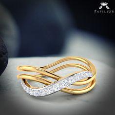 """Together forever like #diamonds and #gold! ""   #diamondring #goldring #below15k #diamondjewelry #papilior"
