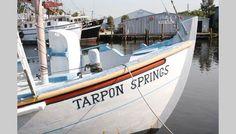 Boat at the sponge docks in Tarpon Springs