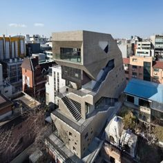 """Sae Min Oh designs irregularly shaped block in Seoul as a """"three-dimensional street"""""""