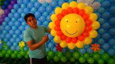 Como hacer un sol con globos