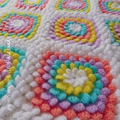 Baby Blanket Floral crochet pattern - Yummy Flower granny square - photo…