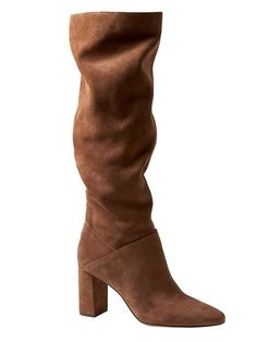 fa3a8b809a5 Banana Republic Womens Suede Tall Slouchy Boot Nutmeg Suede Everyday Shoes