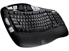 Logitech K350 Black USB 2.4 GHz Wireless Ergonomic Keyboard #Logitech