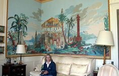 Joseph Dufour Scenic Wallpaper, Antique Wallpaper, Love Wallpaper, Grisaille, Chinoiserie, Wall Murals, Cool Pictures, Julien, Antiques