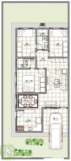 planta de casas 80m2 com garagem - Pesquisa Google