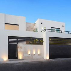 Top 10 Modern house designs – Modern Home Modern House Facades, Modern House Design, Modern Architecture, Style At Home, Future House, Facade House, Gate House, House Goals, House Front
