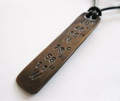 Mens Copper Bar Necklace  Personalized by MetalAccessories on Etsy, $22.00