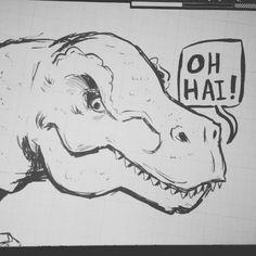 Hello Dinozillus!  #LilithDark #art #dinosaurs