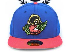Azure Blue / Lava Eugene Emeralds 59Fifty Fitted Cap by NEW ERA x MiLB