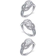 The Shape of Love Knot engagement rings
