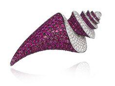 Chopard diamond gemstone shell brooch pin                                                                                                                                                      More