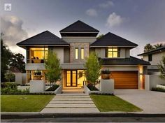 double storey gabled roof house australia - Google Search