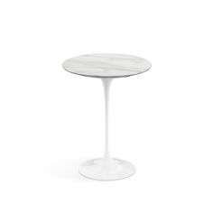 The Saarinen table features a cast-aluminum base with abrasion-resistant Rilsan® finish and a solid marble, wood veneer or laminate tabletop. Saarinen Side Table, Occasional Table, Side Table, Pedestal Table, Table, Saarinen Table, Wood Veneer, Table Top, Living Room Redo