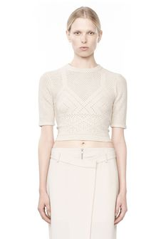 INTARSIA KNIT CROP TOP - Women Tops - Alexander Wang Official Site