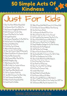Get this FREE Printable with 50 Random Acts of Kindness For Kids (ad). All ideas are free & are simple enough for children to do on their own. # kindness activities for kids Random Acts Of Kindness For Kids Kindness Projects, Kindness Activities, Activities For Kids, Religion Activities, Teaching Kids, Kids Learning, Teaching Empathy, Ramadan, Kindness For Kids