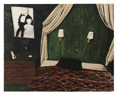 DEN LILLA SYSTERN / THE LITTLE SISTER (Mamma Andersson), 2015  Oil and acrylic on panel, 100x124,5 cm
