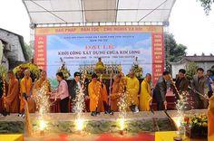 Cho thuê nhà bạt-Thái Nguyên khởi công xây dựng chùa Kim Long