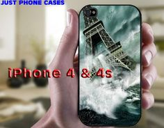 Eiffel Tower Paris in the Ocean iPhone 4 4s hard by JustPhoneCases, $15.99