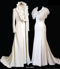 1930's wedding gown/coat ensemble