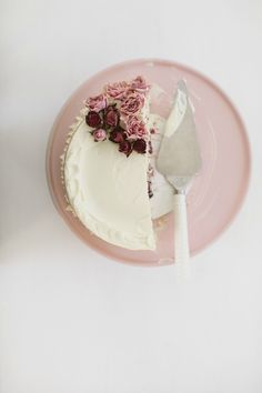 Crème Fraîche Cake with Roasted Berries and White Chocolate Buttercream