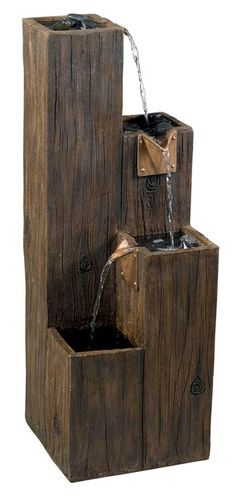 Visit The Home Depot to buy Kenroy Home Timber Indoor/Outdoor Fountain Home Fountain, Fountain Design, Indoor Fountain, Fountain Ideas, Outdoor Flooring, Timber Flooring, Timber Wood, Contemporary Outdoor Fountains, Home Depot