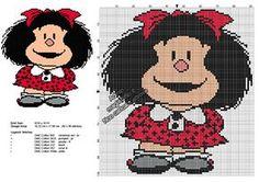 Scarica lo schema punto croce esclusivo di Dicembre 2016: Mafalda !