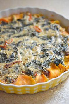 Tarta na spodzie z batatów - zobacz przepis na blogu Quiche, Hamburger, Healthy Snacks, Pizza, Breakfast, Recipes, Dinners, Sweets, Food