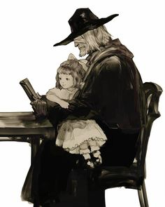 father gascoigne plain doll alfred hunter of vilebloods bloodborne central yharnam video games from software ps4 eileen the crow pale blood