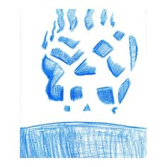 Negative Skull In Blue by Luminosity