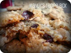 Mandy's Recipe Box: Peanut Butter & Chocolate Chip Oatmeal Cookies