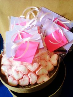 heart shape mallows for hearts day..