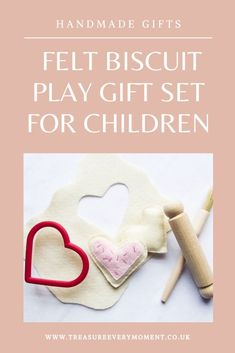 CRAFT: Handmade Felt Biscuit Play Gift Set for Children - homemade gift idea for children at Christmas birthday special occasion Homemade Gifts, Diy Gifts, Tape Painting, Felt Sheets, Party Bag Fillers, Christmas Gift Guide, Handmade Felt, Christmas Birthday, Inspirational Gifts