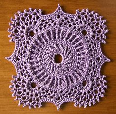 Crochet Square motif. Design by Patricia Kristoffersen