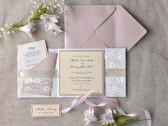 Invitation de mariage romantique rose et par forlovepolkadots