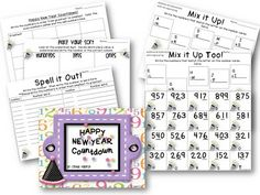 Classroom Freebies Too: New Year's Math Stations