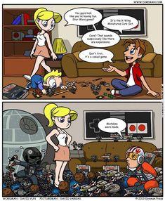 The X-Wing: Star Wars miniatures game obsession. It happens really fast. Star Wars Witze, Star Wars Jokes, Star Wars Comics, X Wing Miniatures, Pokemon, Geek Culture, Clone Wars, Funny Comics, Otaku