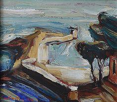 PACEA CONSTANTIN (DINU) (n. 1957 ) Dig la malul mãrii / Seaside pier Seaside, Painting, Art, Art Background, Beach, Painting Art, Kunst, Paintings, Performing Arts