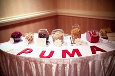 Trail Mix Buffet : wedding buffet diy favors food ivory reception red Trail Mix Table