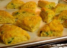 Goat cheese & scallion savory scones...10 minutes to yum
